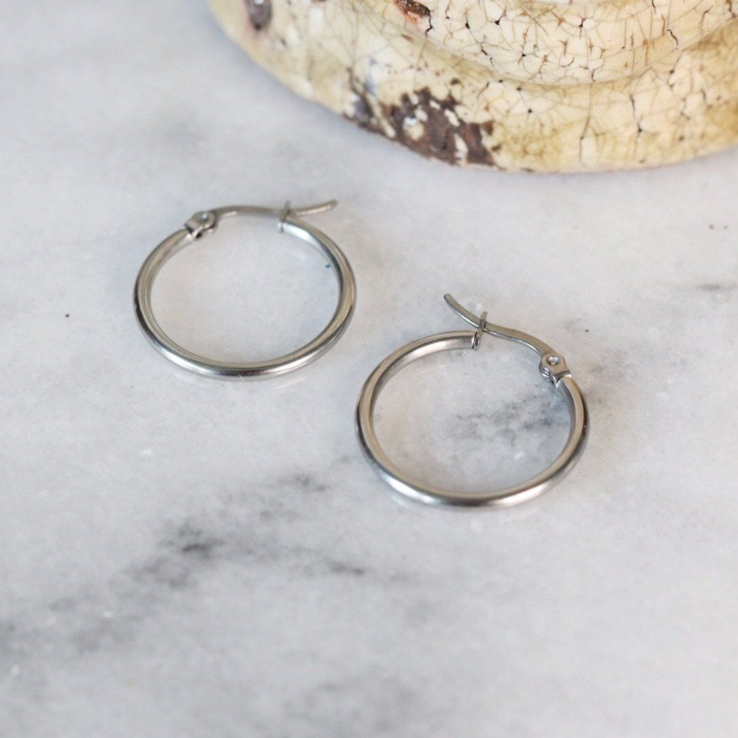 Blair | Simple Hoop Earrings Earrings Alora Boutique
