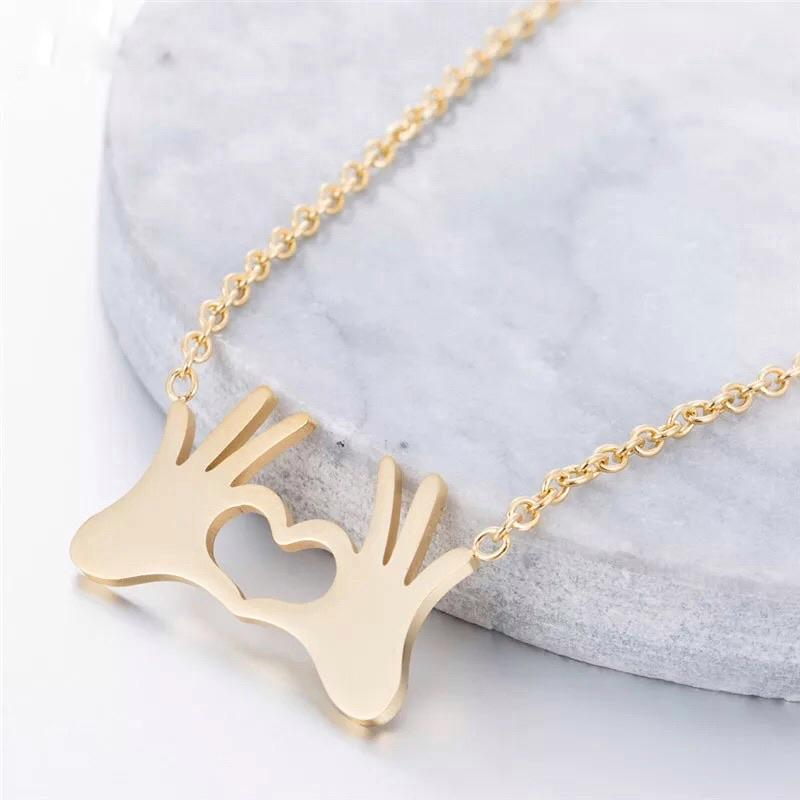 'I Love You' Heart Necklace - Alora Boutique