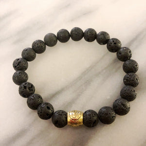 Lava Gemstone Bracelet | Protection, Strength, and Stability Bracelets Alora Boutique Gold