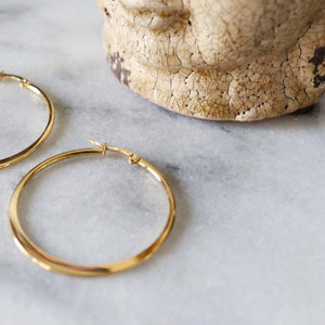 Katrina | Simple Hoop Earrings Earrings Alora Boutique
