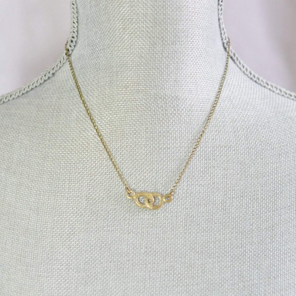 Infinite love infinity side necklace recycled brass alora boutique delicate infinite love necklace gifts with meaning alora boutique 2 mozeypictures Image collections