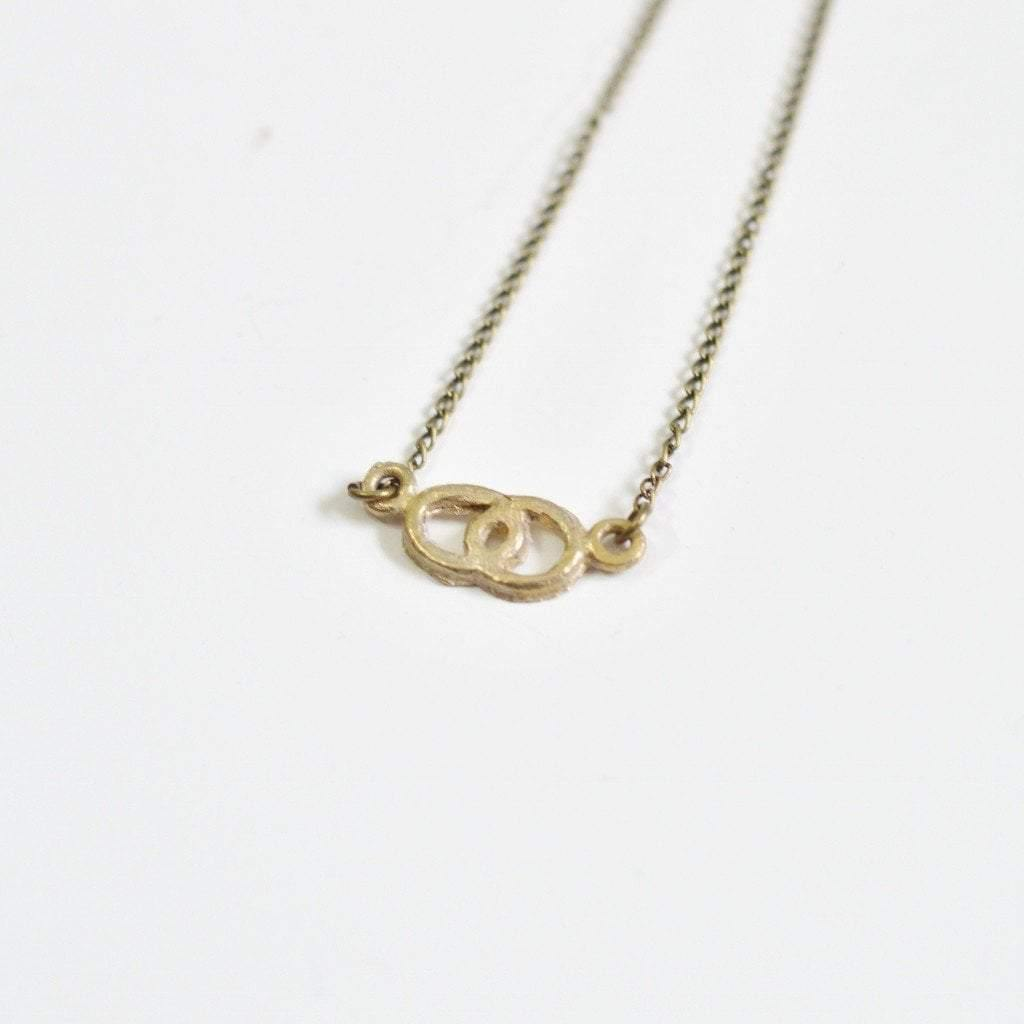 Infinite love infinity side necklace recycled brass alora boutique delicate infinite love necklace gifts with meaning alora boutique 1 aloadofball Image collections