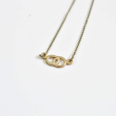 Infinite Love | Infinity Side Necklace | Recycled Brass - Alora Boutique