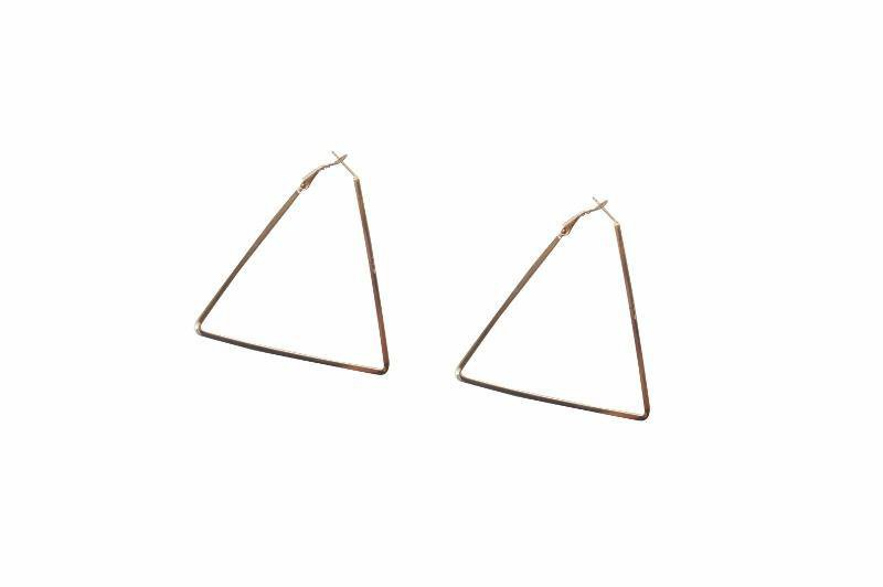 Statement Triangle Hoop Earrings