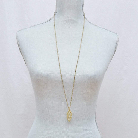 Justice & Equality | Adinkra EPA Pendant Layering Necklace | Recycled Brass - Alora Boutique - Jewelry with meaning that gives back fashion for good