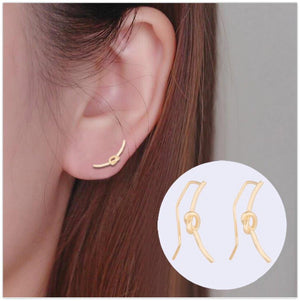 Knot Crawler Stud Earrings Earrings Alora Boutique
