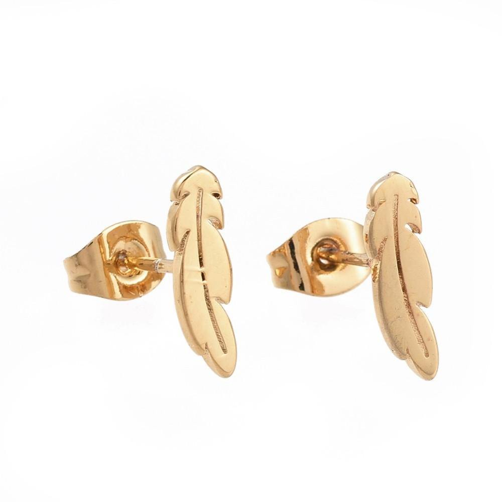 'Jacky' Leaf Stud Earrings