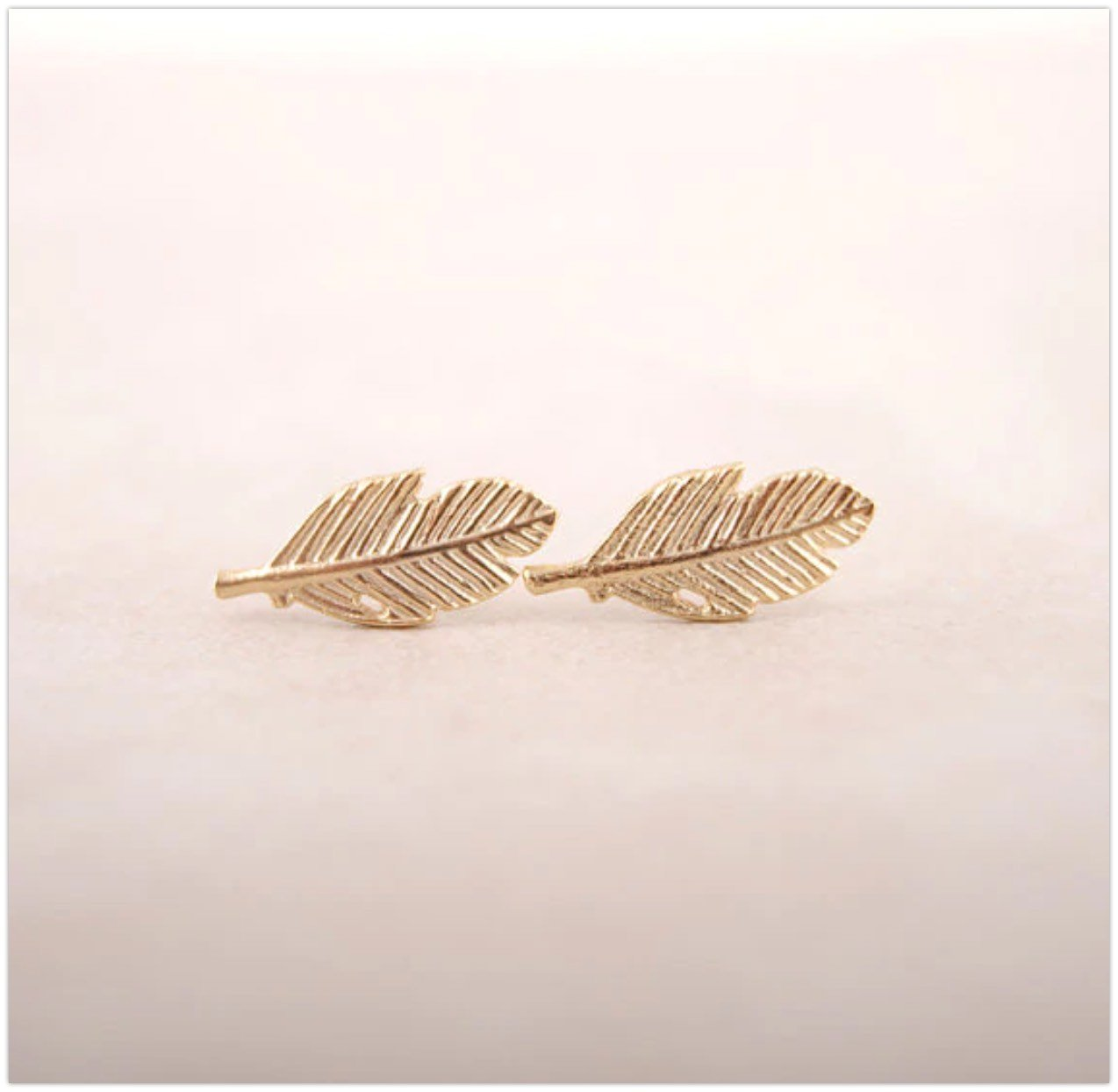 'Jodi' Leaf Stud Earrings