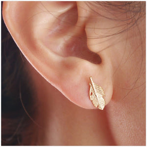 'Jodi' Leaf Stud Earrings Earrings Alora Boutique