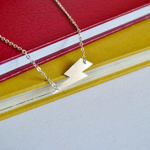 Lightning Bolt Side Necklace