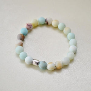 Matte Amazonite Gemstone Bracelet | Courage, Compassion, Prosperity Bracelets Alora Boutique