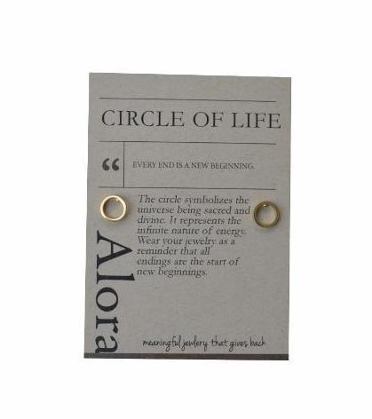 Chizue Open Circle Stud Earrings - Alora Boutique - Jewelry with meaning that gives back fashion for good