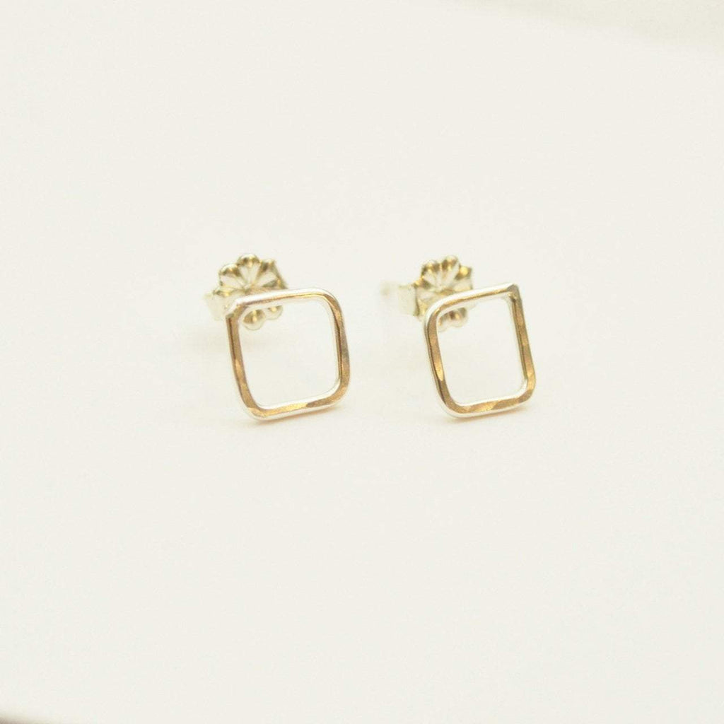 Empower Square Earrings | Sterling Silver or Brass - Alora Boutique