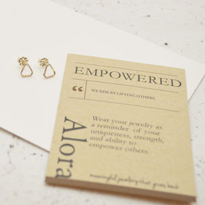 Empower Triangle Earrings | Sterling Silver or Brass - Alora Boutique - Jewelry with meaning that gives back fashion for good