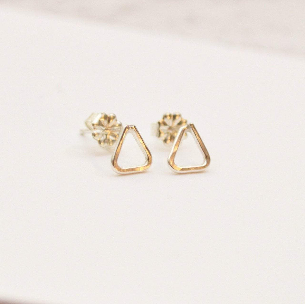 Empower Triangle Earrings | Sterling Silver or Brass