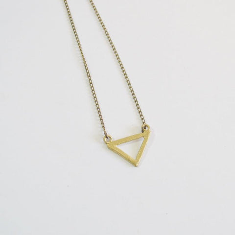 Resilience | Small Delta Pendant Necklace | Recycled Brass - Alora Boutique - Jewelry with meaning that gives back fashion for good