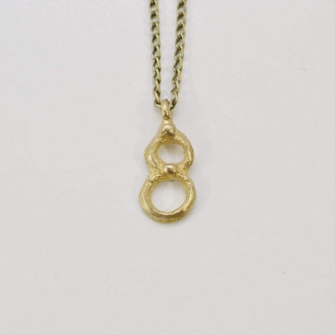 Infinite Love | Infinity Pendant Necklace | Recycled Brass - Alora Boutique