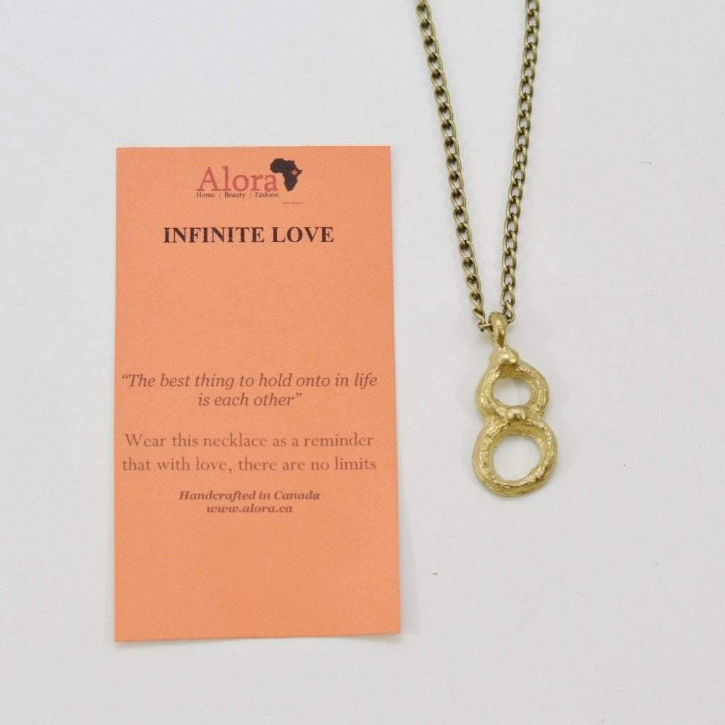 Infinite love infinity pendant necklace recycled brass alora infinite love infinity necklace alora boutique 3 aloadofball Choice Image