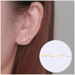 Aspen Mountain Range Ear Crawlers Earrings Alora Boutique