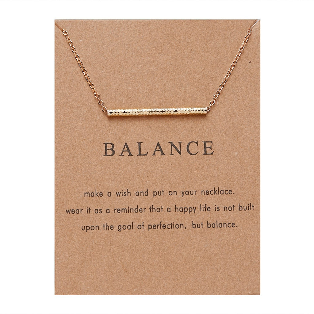 Meaningful Jewelry Gifts - Balance Pendant Neckalce With Meaning Card