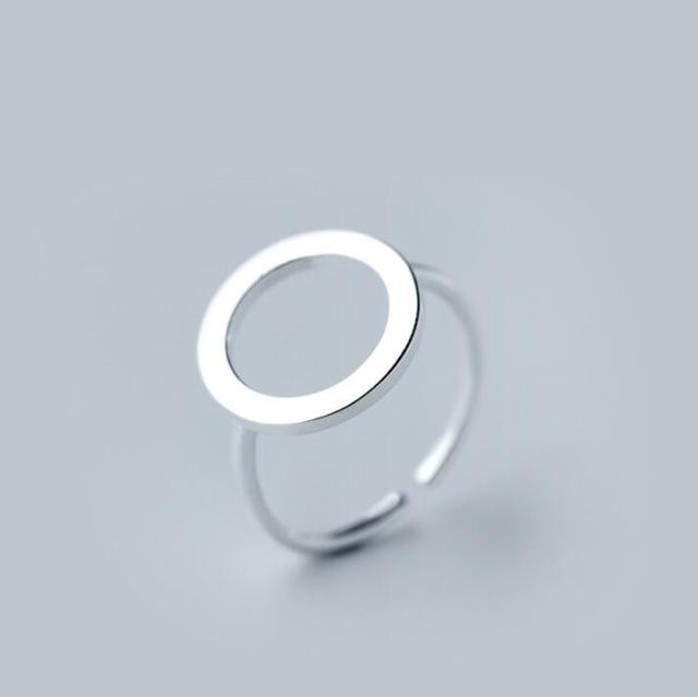 Circle - Silver Minimalist Ring Rings Alora Boutique