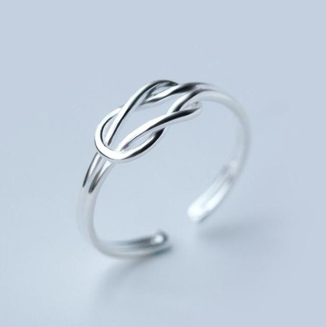 Knot - Silver Minimalist Ring Rings Alora Boutique