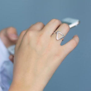 Triangle - Silver Minimalist Ring - Alora Boutique