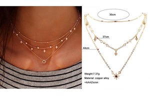 Minimalist Multi-Layered Pendant Necklaces - 7+ Styles - Backordered