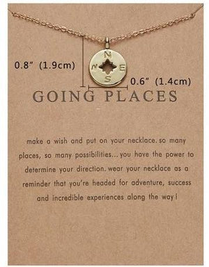 Meaningful Jewelry Gifts - Necklaces with Meaning Cards (Multiple Variants) Necklaces Alora Boutique Going Places