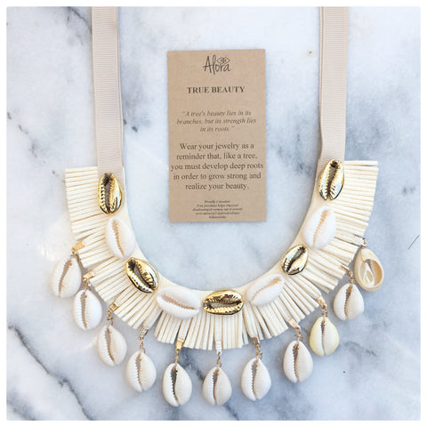 Bridgette -  True Beauty Statement Puka Shell Necklace