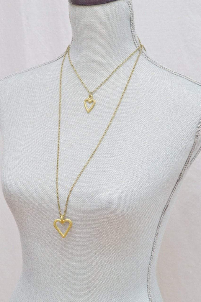 Akoma | Heart Pendant Necklace | Recycled Brass - Alora Boutique - Jewelry with meaning that gives back fashion for good