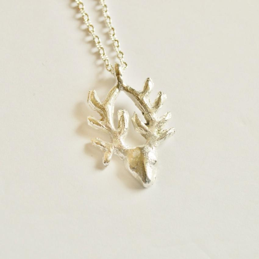 Antelope Pendant Necklace | Recycled Silver | Small - Alora Boutique - Jewelry with meaning that gives back fashion for good