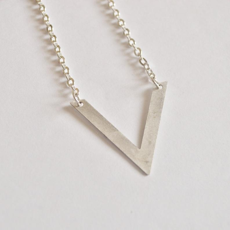 Be Your Own Kind of Beautiful | V Chevron Necklace | Silver - Alora Boutique - Jewelry with meaning that gives back fashion for good