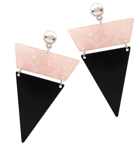 Parina Statement Triangle Resin Earrings