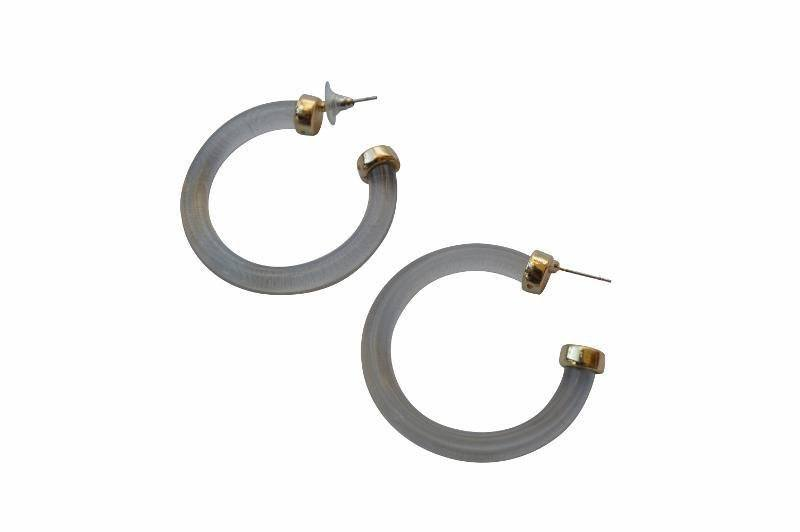 Ijeoma Resin Hoop Earrings - Alora Boutique - Jewelry with meaning that gives back fashion for good