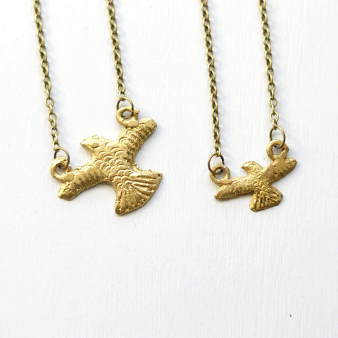 Focus & Determination | Eagle Pendant Necklace | Recycled Brass - Alora Boutique