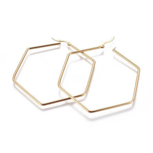 Santana Statement Hexagon Hoop Earrings (2 sizes) - PreOrder - Alora Boutique