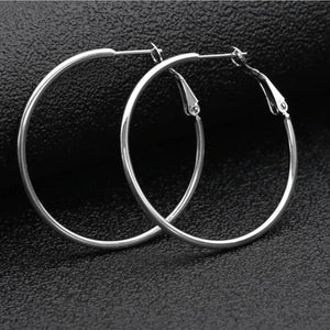 Allison Hoop Earrings - 3+ Colors to Choose From Earrings Alora Boutique Silver