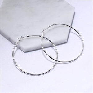 Coterie Simple Hoop Earrings - 5+ Sizes to Choose From Earrings Alora Boutique