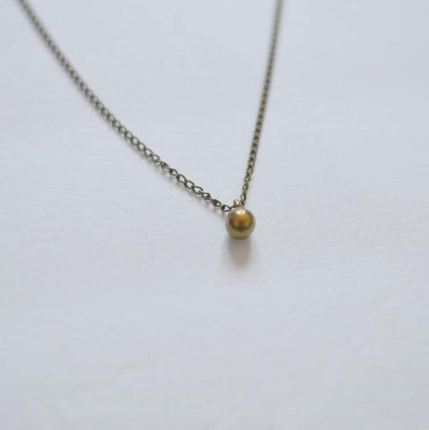 Circle of Life | Delicate Sphere Pendant Necklace | Recycled Brass - Alora Boutique