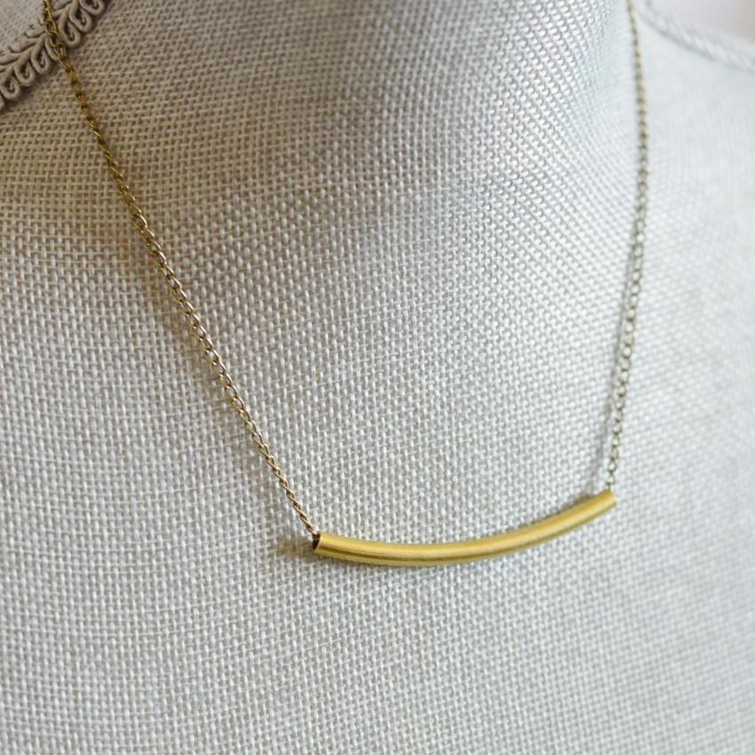 Balance Crescent Necklace - Alora Boutique  - 1