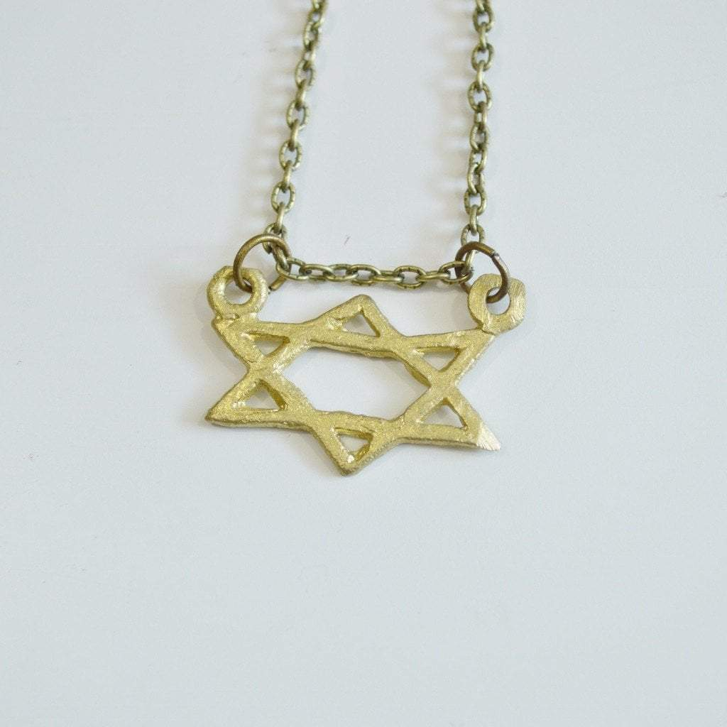 Mind, Body, and Soul (Star of David) Symbol Necklace - Alora Boutique  - 1