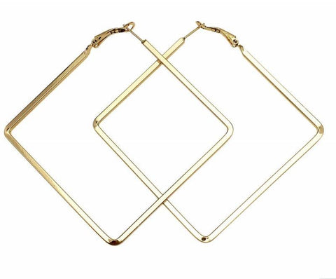 Statement Square Hoop Earrings