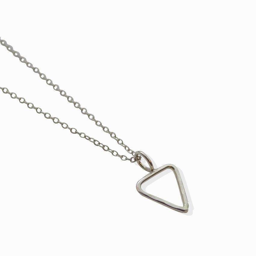 Empower Delicate Necklace | Triangle | Sterling Silver or Brass - Alora  Boutique