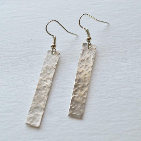 Your Shine is One of a Kind | Rectangle Dangle Earrings | Sterling Silver
