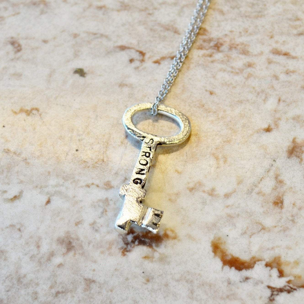 Key Necklace | Strong | Recycled Silver | Diane Collection