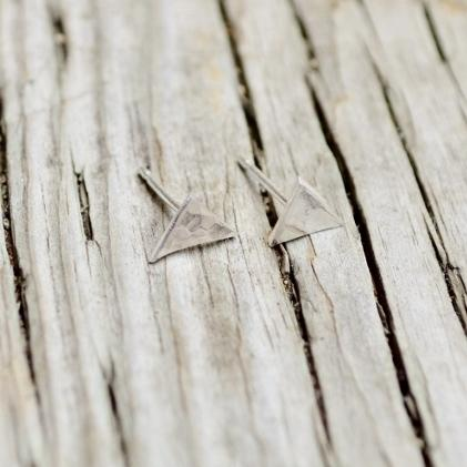 Triangle Stud Earrings | Silver Earrings Alora
