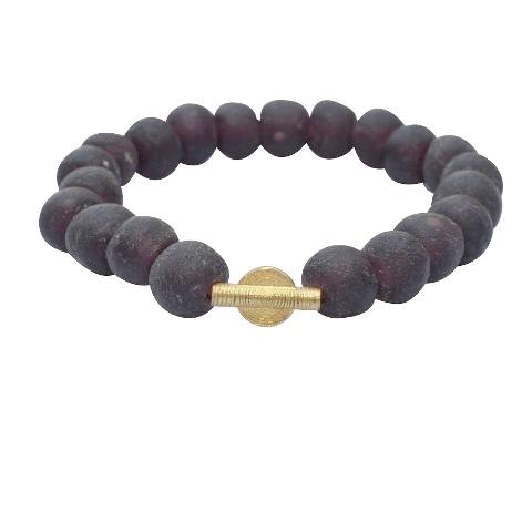Zuelia Ancient Beaded Bracelets - Violet - Healing
