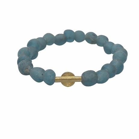 Zuelia Ancient Beaded Bracelets - Teal - Peace