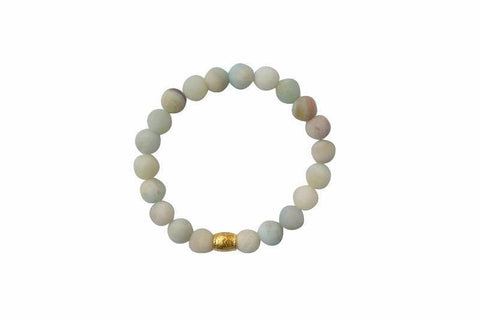 amazonite gemstone crystal bracelet